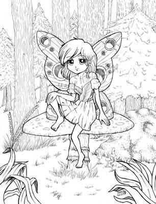 Chibi Fairy Forest by swizzle-stix