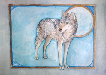 NizhoniWolf by wolfmoonie