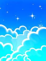 The blue sky by katzanimation