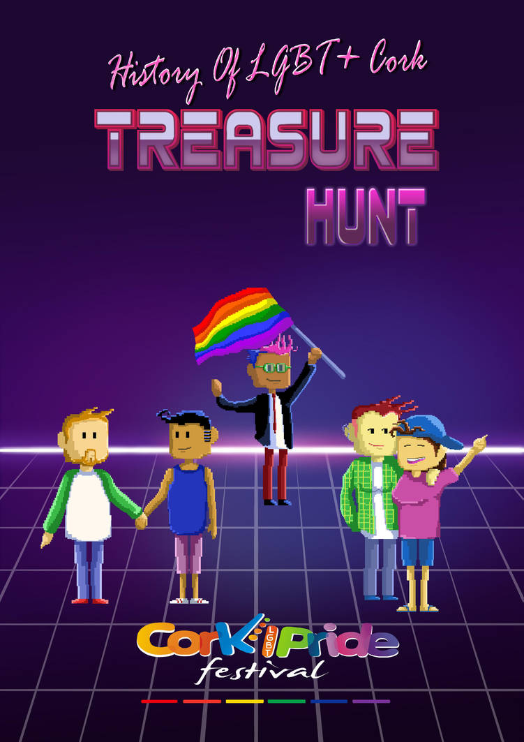 Treasure Hunt Poster for Cork Pride by Cleoam