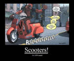 deadpool's scooter by mecca6801