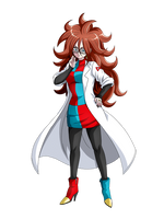 Android 21 (Fighter Z) render [Dokkan Battle] by maxiuchiha22