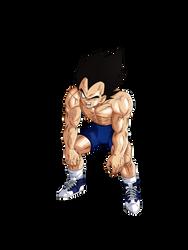 Vegeta Training render [Dokkan Battle] by maxiuchiha22