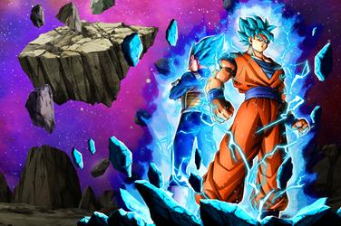 Goku - Vegeta SSGSS Wallpaper [Xkeeperz] by maxiuchiha22