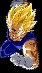 Majin Vegeta render [Dokkan Battle] by maxiuchiha22