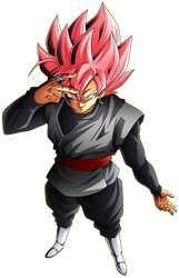 Goku Black SS rose render [Xkeeperz] by maxiuchiha22