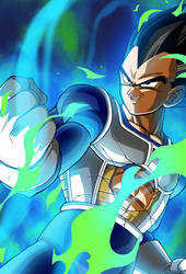 Vegeta (Namek Saga) card 6 [Bucchigiri Match] by maxiuchiha22