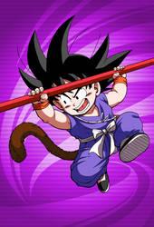 Kid Goku blue suit card 2 [Bucchigiri Match] by maxiuchiha22