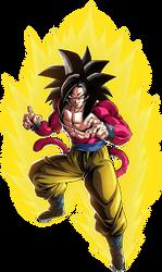 Goku SSJ4 render 2 [Dokkan Battle] by maxiuchiha22