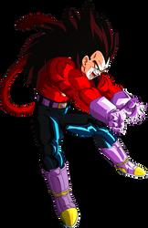 Vegeta SSJ4 render 4 [Dokkan Battle] by maxiuchiha22