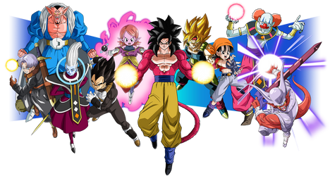 Super Dragon Ball Heroes World Mission Characters by maxiuchiha22