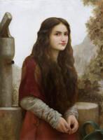 A Girl Fetching Water by Lasarasu
