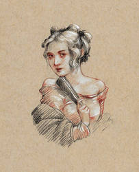 Drawing of Woman by Lasarasu