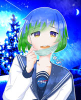 Earth-chan ver. 2 by majii-the-potato