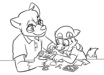 Kyle and his Stepson by tugscarebear