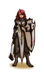 Commission : Crusader Elodie by Lily-Fu