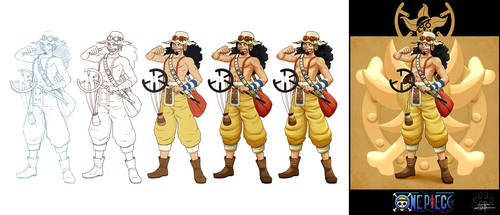 'One Piece cards : Usopp' step by step by Lily-Fu