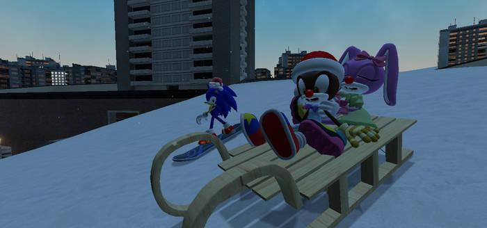 Sleighing Through the Snow - Sonic Xmas Special by Nikolas178