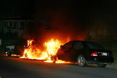 Car Fire Bombing 1 by al-b