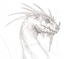 Dragon Sketch by Kimmers4Ever