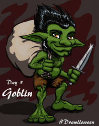 Drawloween 2015 - Goblin by Kimmers4Ever
