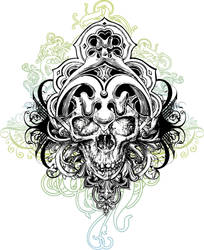 Wicked vector skull by chadlonius