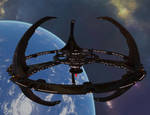 Terok Nor orbiting Bajor by MurbyTrek