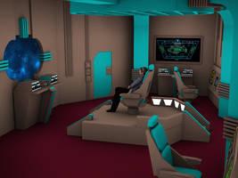 Romulan Warbird Bridge year 2369 by MurbyTrek
