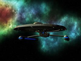 Starfleet Centaur Class ship by MurbyTrek