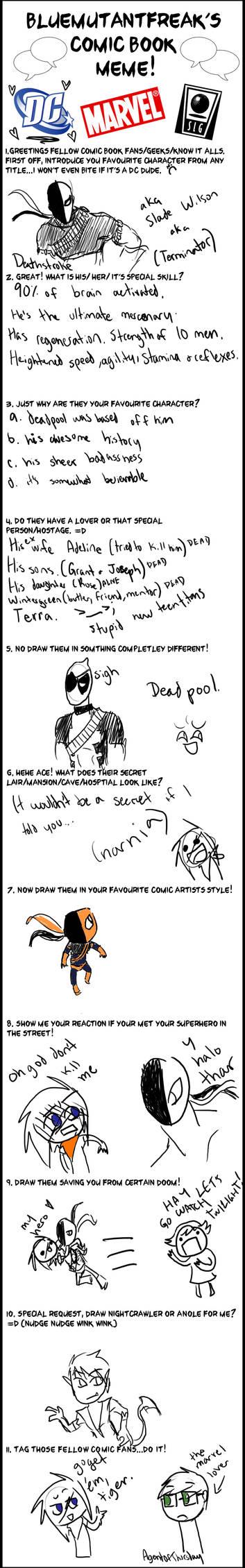 Comic Book Meme by Erewolf