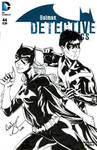 Batgirl and Nightwing sketch cover by mechangel2002
