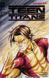 SDCC 2018 Tyler Kirkham Kid Flash colours by mechangel2002
