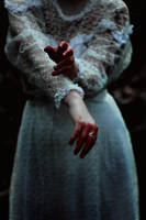 Hands stained with colour of autumn by NatalieVing