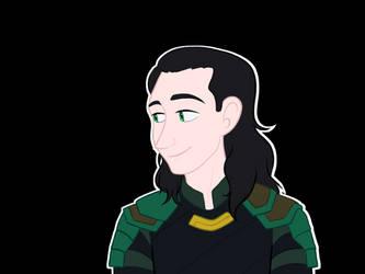 Loki Looking Left by WaterElement33