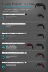 6 pasos para pintar pelo by castrochew