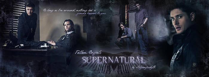 Supernatural - Fallen Angels (Facebook Banner) by lilyanjudyth