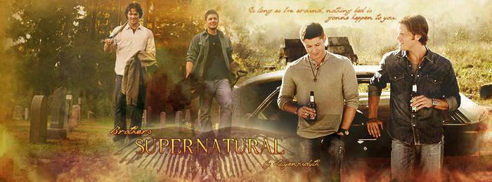 Supernatural - Brothers (Facebook Banner) by lilyanjudyth