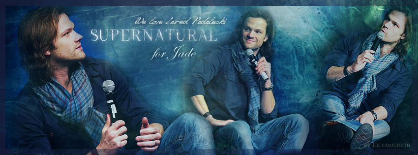 Supernatural - We love Jared Padalecki (FB Banner) by lilyanjudyth