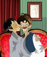 kissyHolmes starteledWatson by elina-elsu