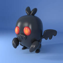 Mothman Vinyl by ObsidianPixelStudio