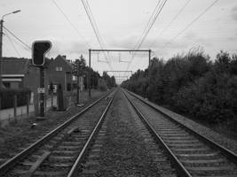 along the rail line by X-fabz-X