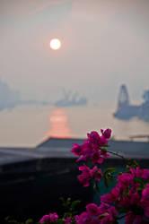 Sunset Over Kowloon Bay by Earthfeeler