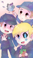 Ralph, Jerry and Rupert by MariaCool1234