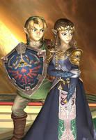 Brawl-Zelda and Link Manip by ambivalentlight