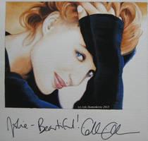 Gillian Anderson - signed portrait (gouache) by signedportraits