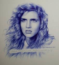 Ashley Laurence - signed portrait (ballpointpen) by signedportraits