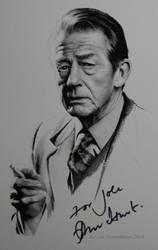 John Hurt - signed portrait (Gouache on paper) by signedportraits