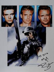 Michael Biehn (gouache on paper) by signedportraits