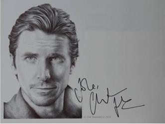 Christian Bale - signed portrait (ballpoint pen) by signedportraits