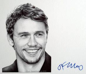 James Franco - signed portrait (ballpoint pen) by signedportraits